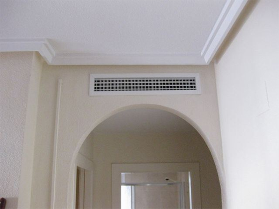Grille de soufflage climatisation gainable