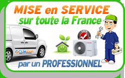 Mise en service climatisation réversible sur toute la France