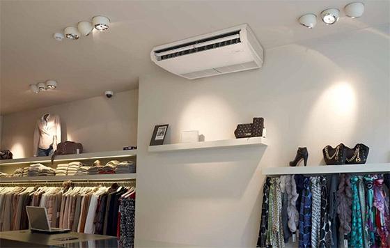 Plafonnier : climatiseur pour commerces, bureaux et grands volumes