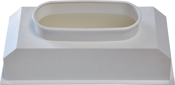 Plénum PVC pour fixation grille de soufflage climatisation gainable