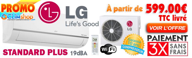 Promo Climatiseur Mono-split Lg STANDARD PLUS Wifi PM09SP.NSJ - PM12SP.NSJ - PM18SP.NSK - PM24SP.NSK